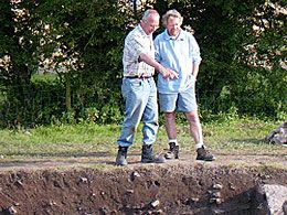 Mark Redknap shows Julian Richards around the site.