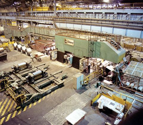 The Double Reduction Mill installed in 1978 produced very thin strip steel for making drinks cans
