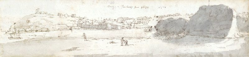 <em>Tenby</em> (1678) Francis Place. Digitally stitched together