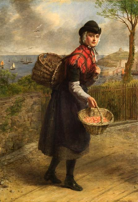 Frith, Wiliam Powell. Tenby prawnseller. (1880)