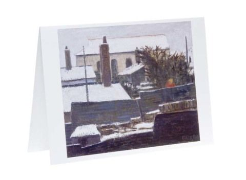 Christmas card pack - Snow in Treherbert by Charles Burton.