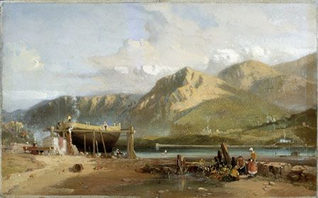 Scene on the Traeth Bach, North Wales
