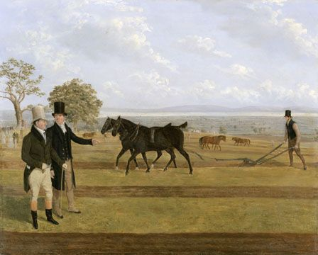 Sir Charles Morgan at the Castleton ploughing match, 1845