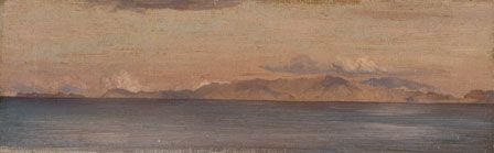 Distant View of Mountains in the Aegean Sea