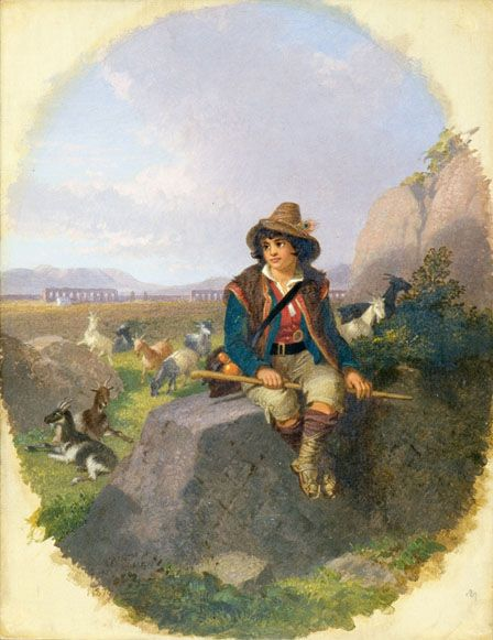 A Goatherd on the Roman Campagna
