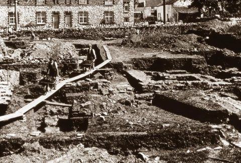 Excavation at Caerwent in the early 20th-century