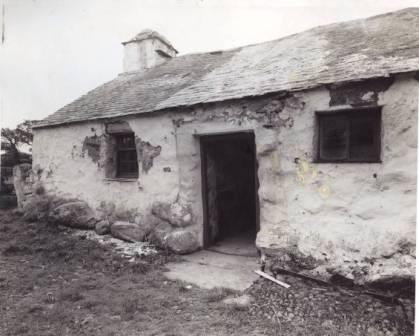 Llainfadyn Cottage prior to removal to St Fagans National History Museum