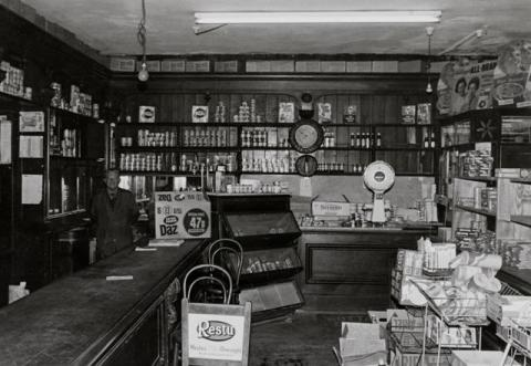 Interior view of Gwalia Stores in Ogmore Vale