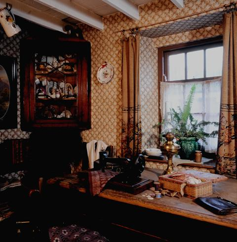 Interior of the 1925 house, Rhyd-y-car, at St Fagans National Museum of History