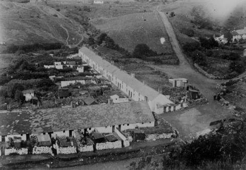 Aerial view of Rhyd-y-car houses in Merthyr Tydfil
