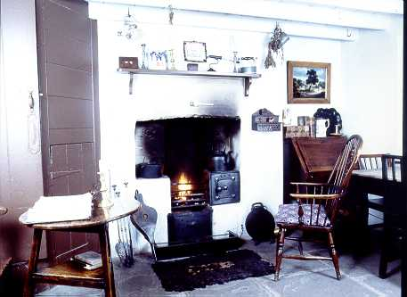 Interior of the 1855 house, Rhyd-y-car, at St Fagans National History Museum