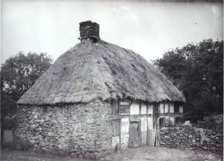 Abernodwydd Farmhouse prior to removal to St Fagans National History Museum