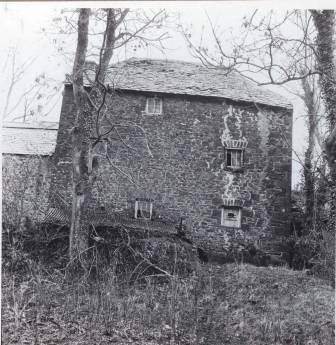 Melin Bompren (cornmill) prior to removal to St Fagans National History Museum