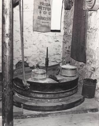 Interior view of the Melin Bompren (cornmill) at St Fagans National History Museum