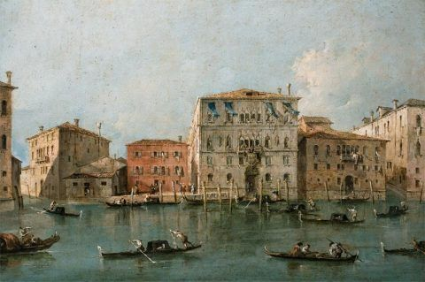 View of the Palazzo Loredan dell'Ambasciatore on the Grand Canal, Venice [after cleaning]