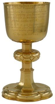 communion chalice of Guinea gold