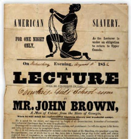 This poster was produced for a lecture tour by a freed slave campaigning for abolition in the United States of America.