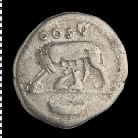 Wolf with Romulus and Remus [Domitian Caesar]