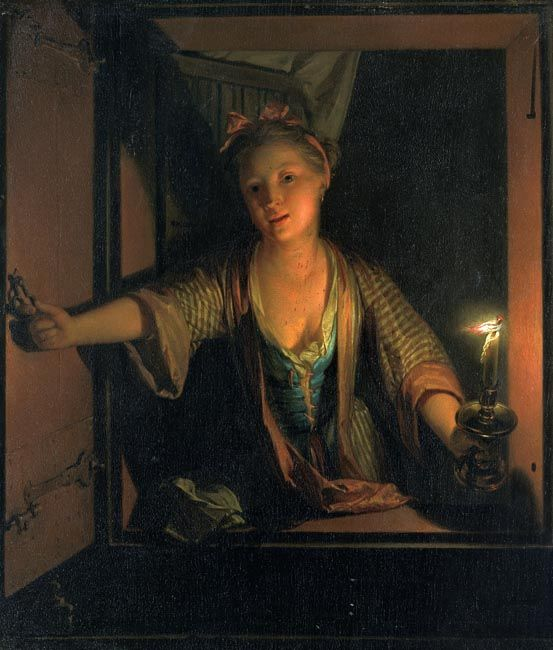 A girl at the window
