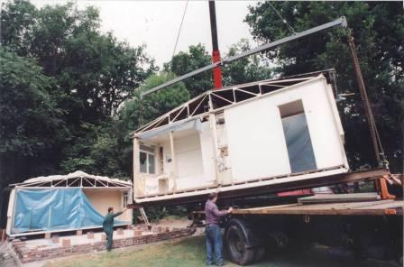Re-erecting the Prefab at St Fagans National History Museum