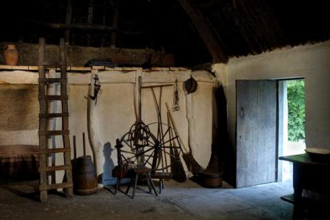 Interior view of Nant Wallter Cottage at St Fagans National History Museum