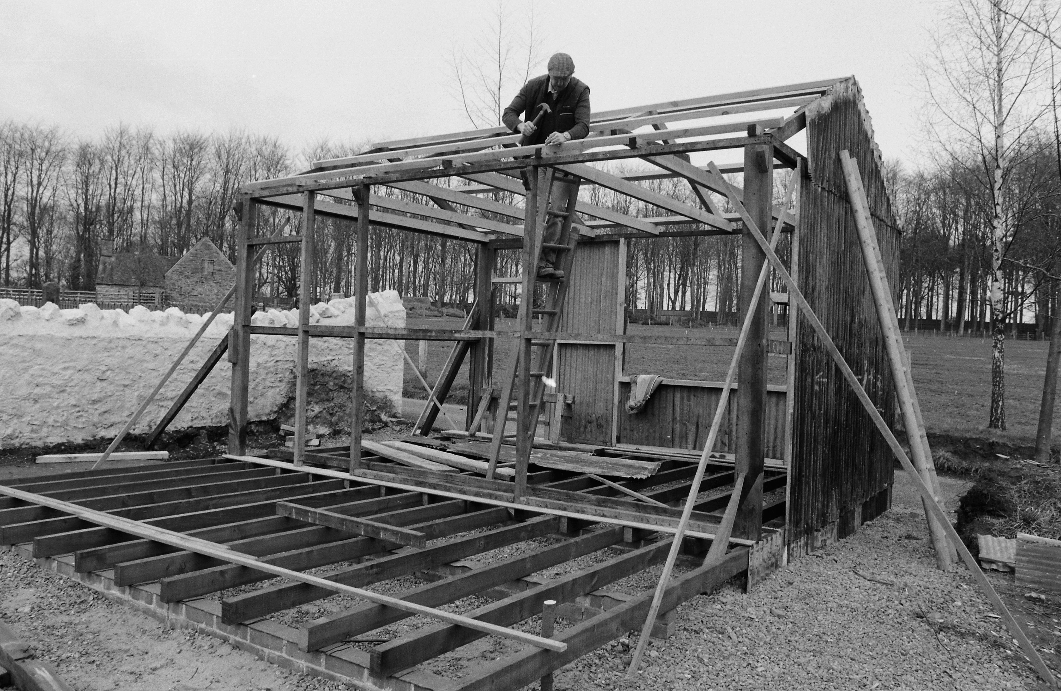 Re-erecting the Saddler's Workshop at St Fagans National Museum of History
