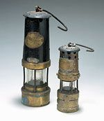 Two miners' lamps