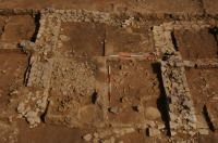 Room containing Roman armour in-situ, in bottom right quarter (photograph courtesy of Dr. Peter Guest).