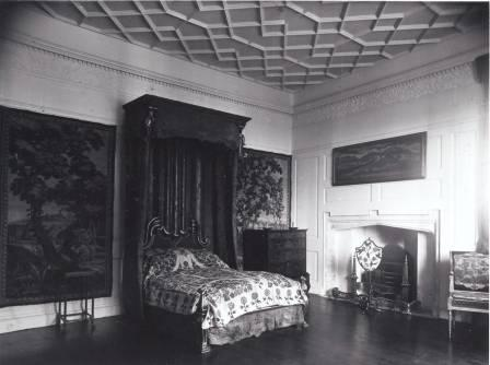 Interior view of St Fagans Castle (18th Century Bedroom)