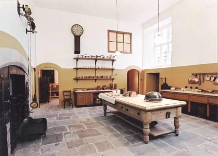 Interior view of St Fagans Castle (Kitchen)