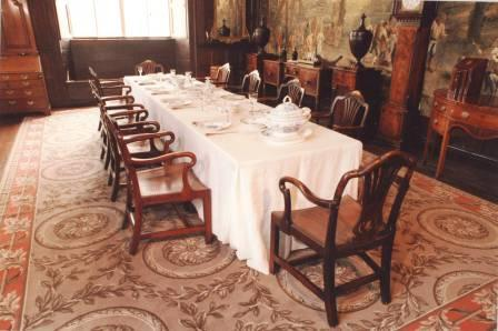 Interior view of St Fagans Castle (Dining-room)