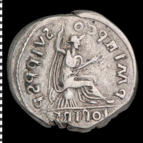 Forgery of Hadrian - reverse copies a coin of Trajan