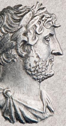 Detail of the Roman Emperor Hadrian (117-38)