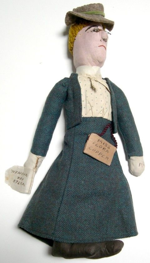 An Edwardian suffragette rag doll, <em>c</em>.1890-1900