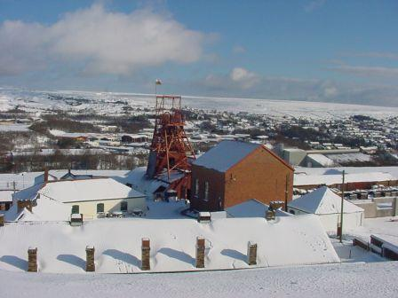 Big Pit in the snow