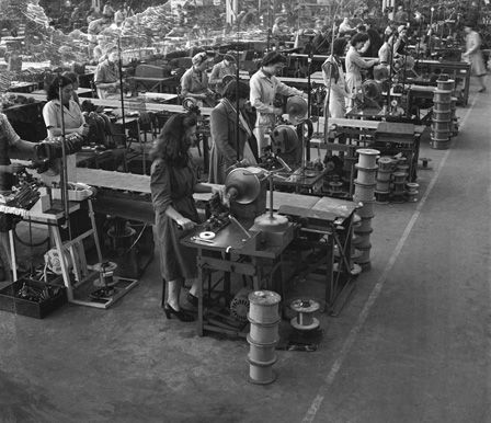 Female workers at Hopkinson's Electric