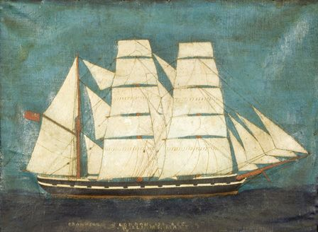 The barque General Picton (oil on board)
