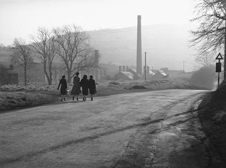 Girls walking at Ynysycedwyn Ironworks