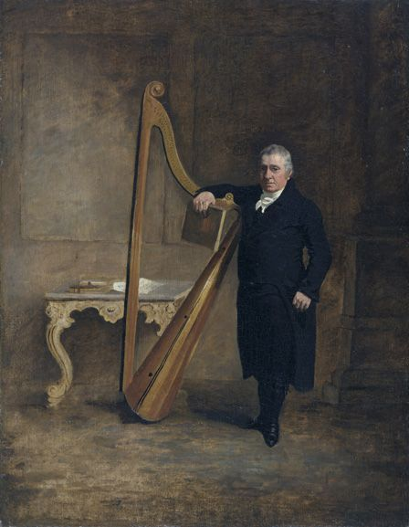 Harpist to the Corbet family of Griffith Owen, c.1812 (oil on canvas)