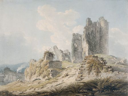 Caerphilly Castle, 1793-95 (w/c & pencil on paper)