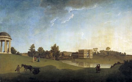 Halswell House, Somerset, 1764 (oil on canvas)