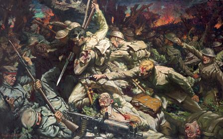 The Welsh at Mametz Wood (oil on canvas)