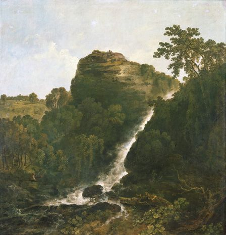 Lydford Waterfall, Tavistock (oil on canvas)