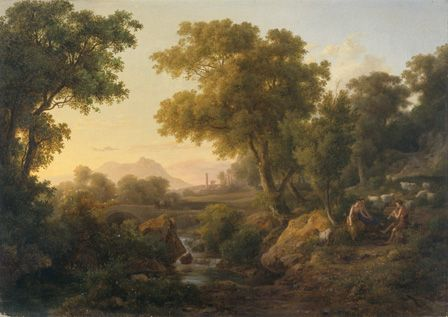 Italian Classical Landscape (oil on canvas)