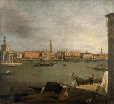 The Bacino di San Marco Looking North (oil on canvas)