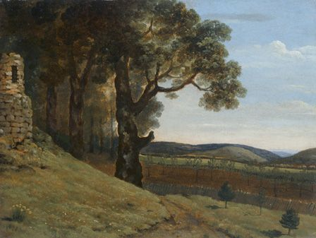 Field near Pencerrig, 1776 (oil on paper)