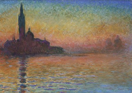 San Giorgio Maggiore by Twilight, 1908 (oil on canvas)