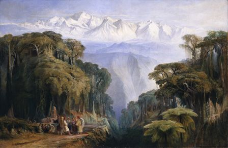 Kinchenjunga from Darjeeling, 1877 (oil on canvas)