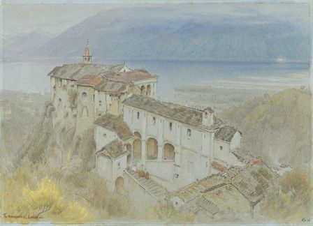 The Monastery, Locarno, 1890 (w/c and chalk on paper)