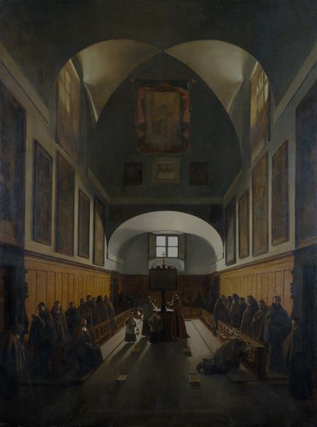 The Choir of the Capuchin Church, Rome, 1817 (oil on canvas)